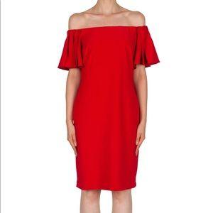 Joseph Ribkoff Red Off-shoulder Dress